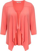Anna Rose Embellished Jersey Cover Up Coral - Gallery Image 3