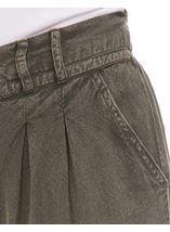 Elasticated Cuff Loose Fitting Embroidered Trousers Khaki - Gallery Image 4