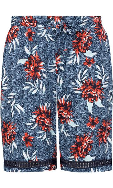 Floral Printed Pull On Shorts Multi Airforce