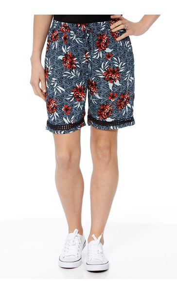 Floral Printed Pull On Shorts Multi Airforce - Gallery Image 2