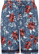 Floral Printed Pull On Shorts
