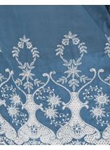 Embroidered Cotton Top Grey Chambray - Gallery Image 4