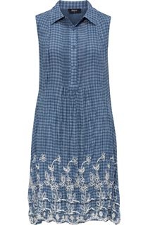 Embroidered Sleeveless Stripe Tunic