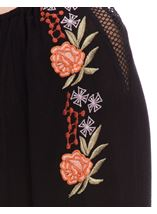 Embroidered Boho Loose Fit Top Black - Gallery Image 4