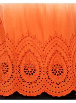 Cold Shoulder Ombre Cotton Top Orange/White - Gallery Image 4