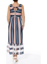 Sleeveless Striped Maxi Dress Dark Blue - Gallery Image 2