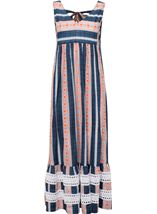 Sleeveless Striped Maxi Dress Dark Blue - Gallery Image 4