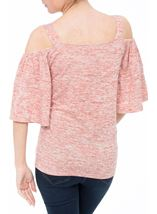 Cold Shoulder Jersey Top Orange Marl - Gallery Image 2