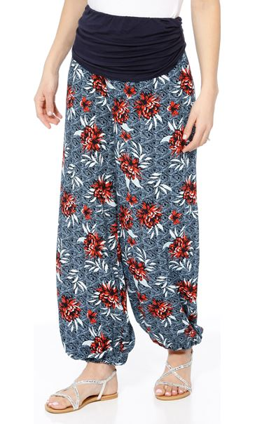 Elasticated Cuff Loose Fitting Trousers Multi Airforce