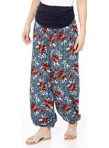Elasticated Cuff Loose Fitting Trousers Multi Airforce - Gallery Image 1