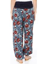Elasticated Cuff Loose Fitting Trousers Multi Airforce - Gallery Image 2