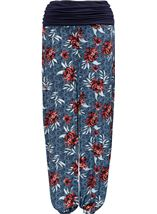 Elasticated Cuff Loose Fitting Trousers Multi Airforce - Gallery Image 3