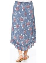 Pull On Floral Print Dip Hem Skirt Multi Airforce - Gallery Image 2