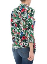 Anna Rose Garden Print Jersey Blouse With Necklace Floral Butterfly - Gallery Image 2
