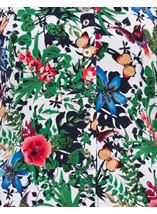 Anna Rose Garden Print Jersey Blouse With Necklace Floral Butterfly - Gallery Image 4