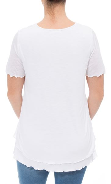 Anna Rose Layered Short Sleeve Top White - Gallery Image 3