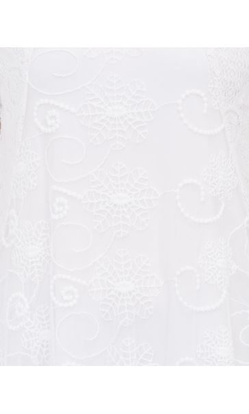 Anna Rose Layered Short Sleeve Top White - Gallery Image 4