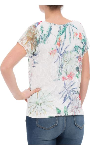 Anna Rose Printed Lace Layer Top Garden - Gallery Image 2