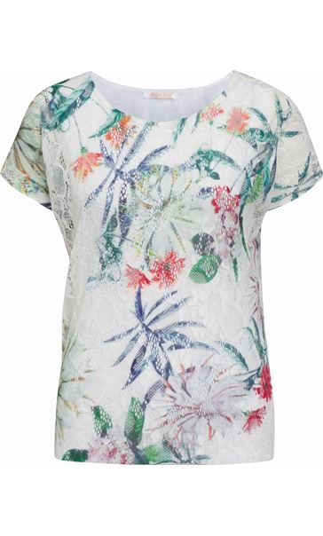 Anna Rose Printed Lace Layer Top Garden - Gallery Image 4