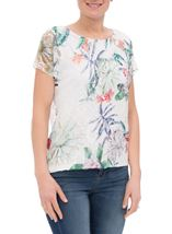 Anna Rose Printed Lace Layer Top Garden - Gallery Image 1
