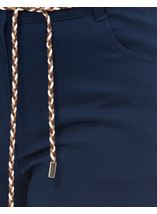 Stretch Shorts With Tie Belt Navy - Gallery Image 4