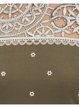 Embroidered Short Sleeve Jersey Top Khaki - Gallery Image 3