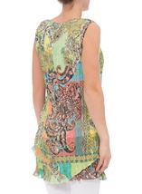 Printed Layered Pleated Tunic