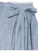 Striped Pull On Cotton Culottes Denim/White - Gallery Image 4