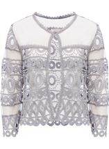 Anna Rose Crochet And Lace Cover Up Silver Grey - Gallery Image 1