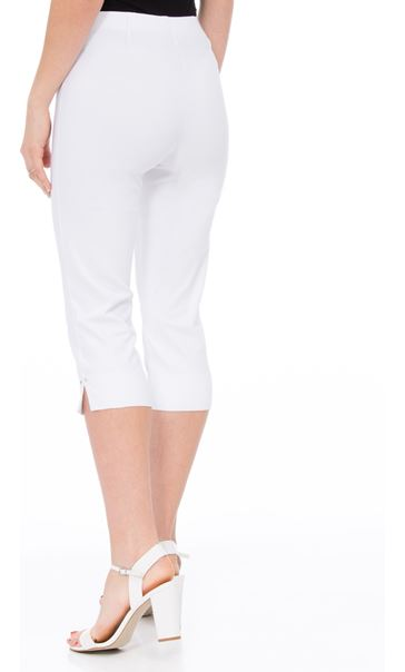Cropped Stretch Slim Trousers White - Gallery Image 3