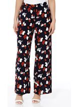 Wide Leg Printed Pull On Trousers