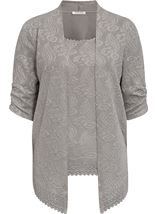 Anna Rose Moc Two Piece Top Set Silver Grey - Gallery Image 1