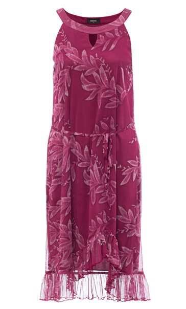 Printed Sleeveless Midi Dress Berry