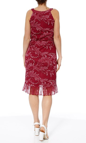 Printed Sleeveless Midi Dress Berry - Gallery Image 3