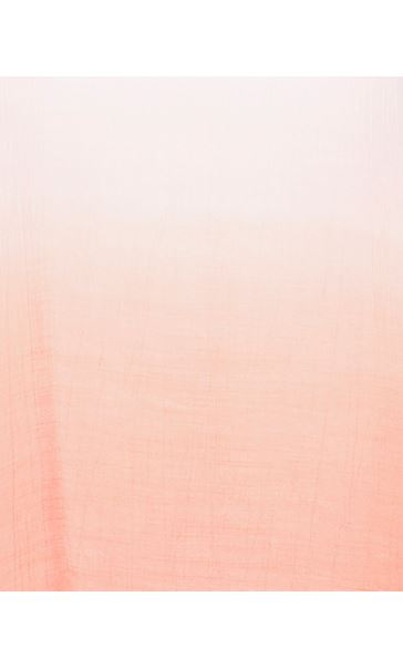 Cold Shoulder Ombre Crinkle Tunic White/Papaya - Gallery Image 4