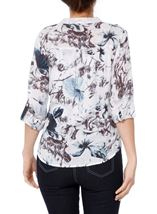 Anna Rose Sequin Trim Print Top Multi - Gallery Image 2