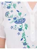 Anna Rose Embroidered Top White - Gallery Image 4