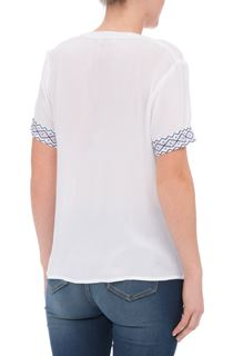 Anna Rose Embroidered Crinkle Blouse
