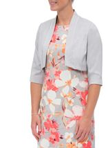 Anna Rose Open Shantung Jacket Silver Grey - Gallery Image 2