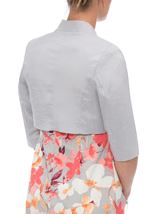 Anna Rose Open Shantung Jacket Silver Grey - Gallery Image 3
