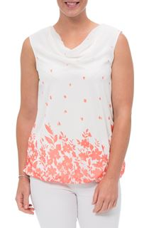 Printed Chiffon Sleeveless Top