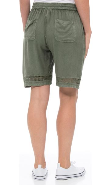 Loose Fitting Elasticated Waist Shorts Green - Gallery Image 3