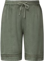 Loose Fitting Elasticated Waist Shorts Sage Green - Gallery Image 1