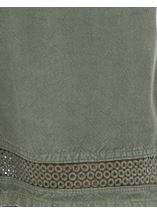 Loose Fitting Elasticated Waist Shorts Sage Green - Gallery Image 4