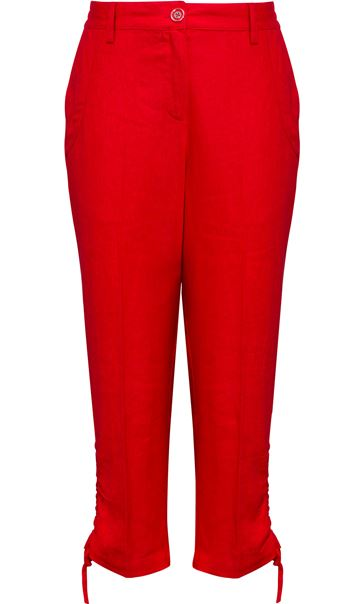 Anna Rose Linen Blend Cropped Trousers Poppy - Gallery Image 4