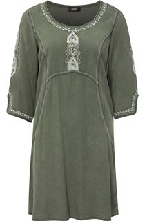 Embroidered Washed Look Tunic