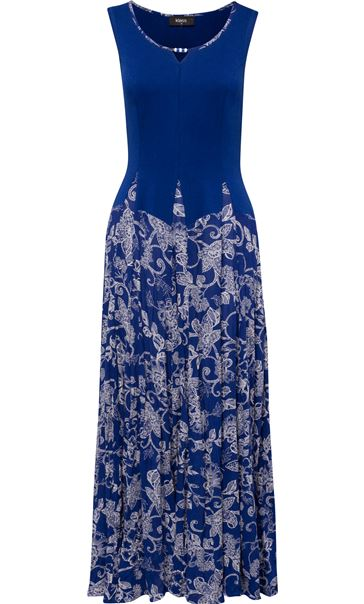 Sleeveless Parachute Dress Cobalt