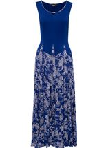 Sleeveless Parachute Dress Cobalt - Gallery Image 1