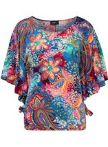 Printed Short Sleeve Jersey Top