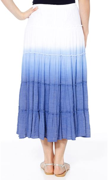 Ombre Layered Pull On Maxi Skirt Blue - Gallery Image 3